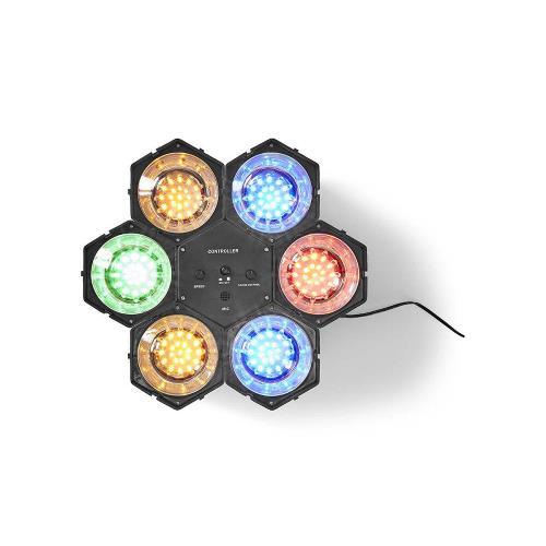 Nedis FUDI211BK6 Discolamp met Spots | Multicolour | met 126 LEDs