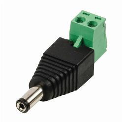 Nedis CCTVCM10BK5 DC-stekker met connector, male