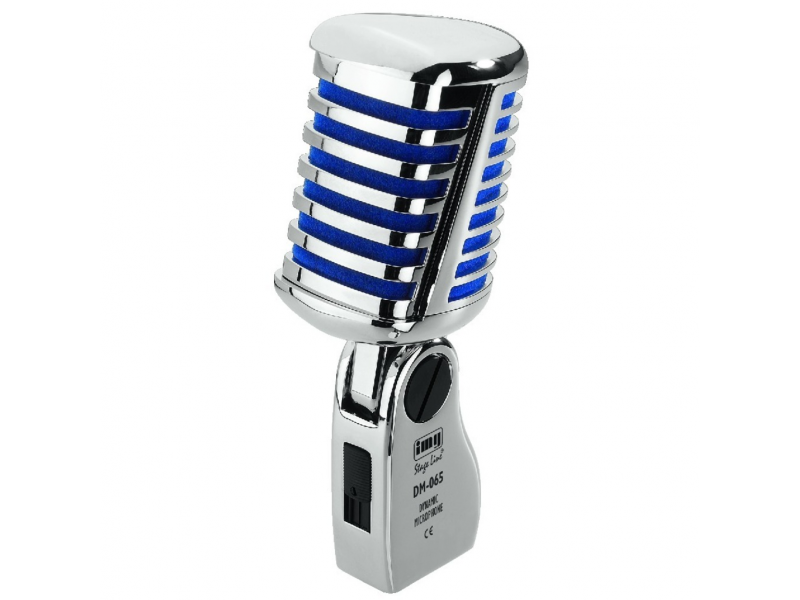 IMG Stage line DM-065 Retro chrome dynamische microfoon