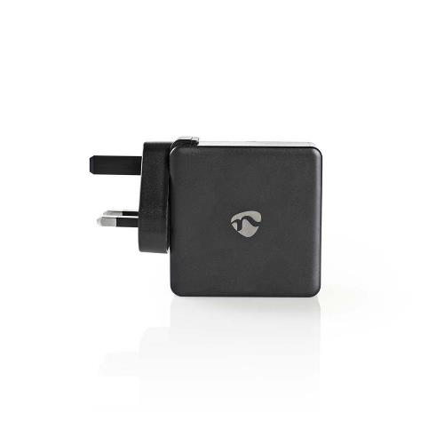 Nedis WCPD30W110BKUK Thuislader   3,0 A   USB (QC) / USB-CT   Voeding: 30 W   Zwart
