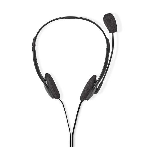 Nedis CHST100BK PC-Headset | On-Ear | 2x 3,5 mm Connectoren | 2,0 m | Zwart