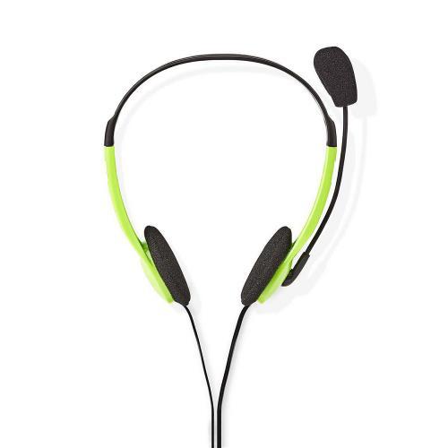 Nedis CHST100GN PC-Headset | On-Ear | 2x 3,5 mm Connectoren | 2,0 m | Groen