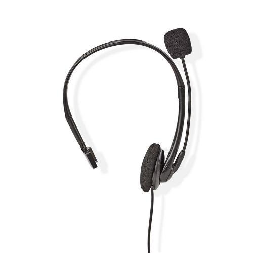 Nedis CHSTRJ100BK PC-Headset | On-Ear | RJ9-Connector | 2,2 m | Zwart