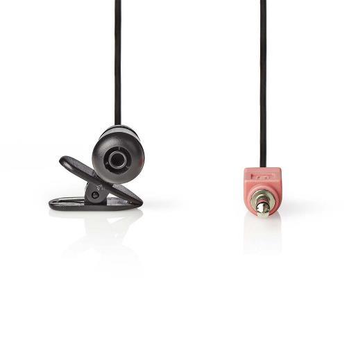 Nedis MICCJ100BK Bedrade Microfoon | Clip-On | 3,5 mm | Zwart