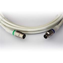 Technetix 19012104 Coaxkabel IEC / Coax IEC Male - IEC Female Recht 5 m Wit