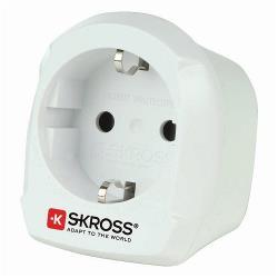 Skross 1.500230-E Reisadapter Europa-naar-UK Geaard