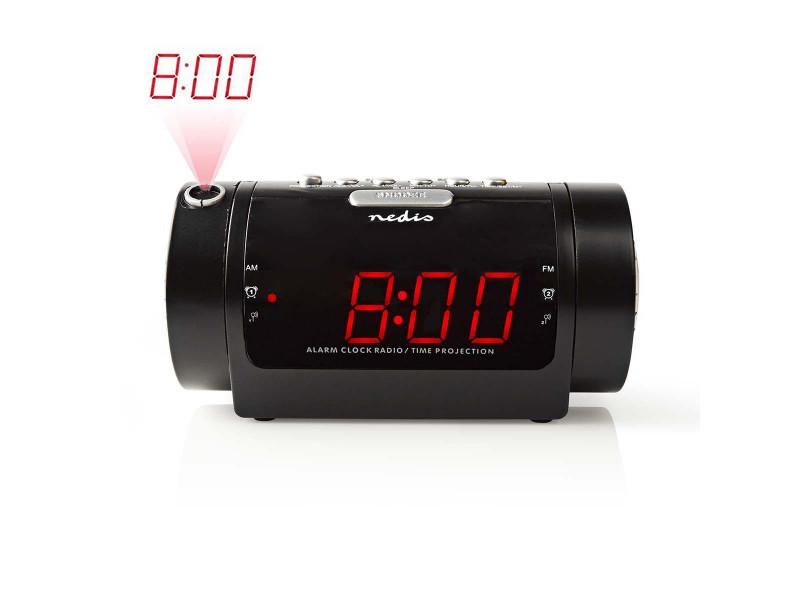 Nedis CLAR005BK Digitale Wekkerradio met Display LED van 0,9 FM Dubbel alarm Sluimeren