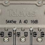 Macab 3145456 Satelliet Splitter F-Splitter Satelliet 16 dB / 5-2400 MHz - 4 Uitgangen