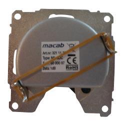 Macab 3211133 Antenne Wandcontactdoos Uiteinde 1.0 dB Zilver