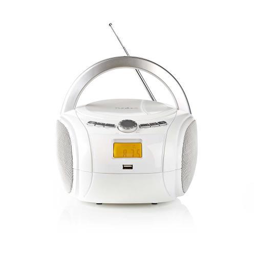 Nedis SPBB100WT Boombox | 9 W | Bluetooth® | CD-speler / FM-Radio / USB / AUX | Wit