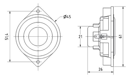 "Visaton 2240 Miniatuur luidspreker 4,5 cm (1.8"")"