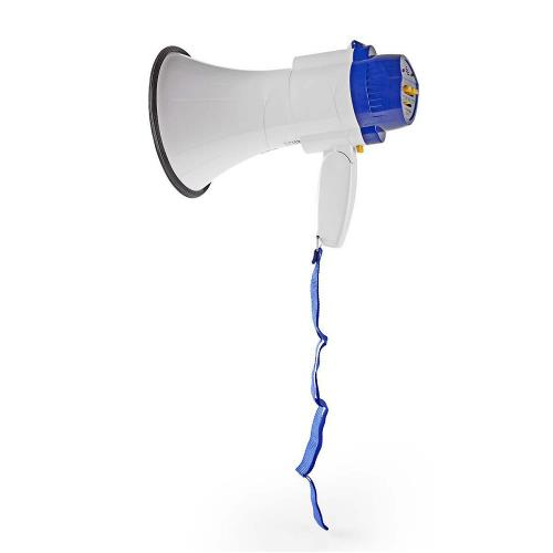 Nedis MEPH150WT Megafoon | 10 W | Bereik van 250 m | Ingebouwde microfoon | Wit / blauw