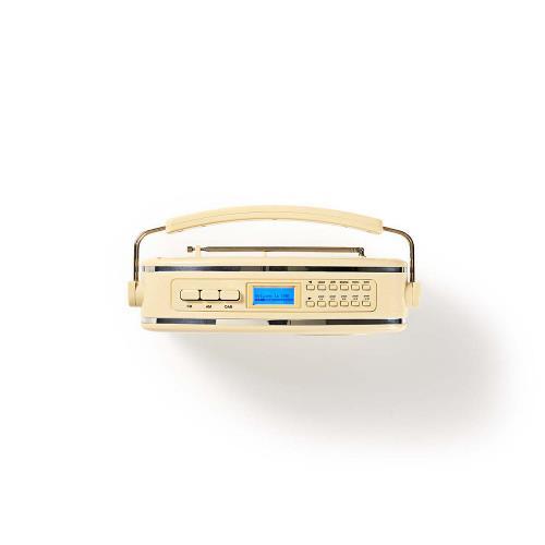 Nedis RDDB5000BG DAB+-radio | 5,4 W | FM | Draaggreep | Beige