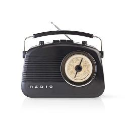 Nedis RDFM5000BK FM-radio | 4,5 W | Draaggreep | | Zwart