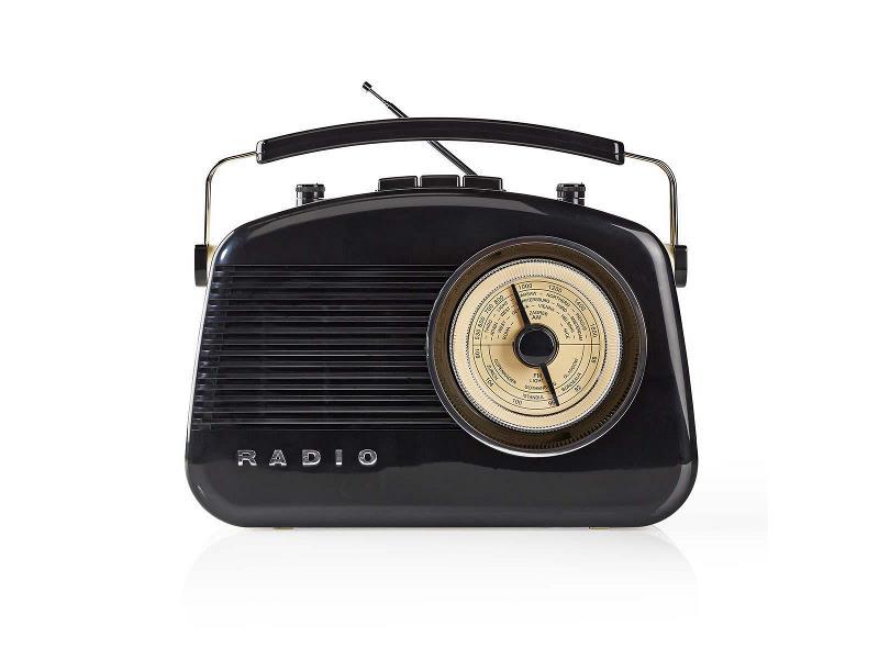 Nedis RDFM5010BK FM-radio   5,4 W   Bluetooth®   Draaggreep   Zwart
