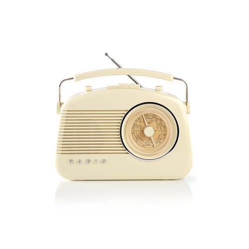 Nedis RDFM5010BG FM-radio | 5,4 W | Bluetooth® | Draaggreep | Beige