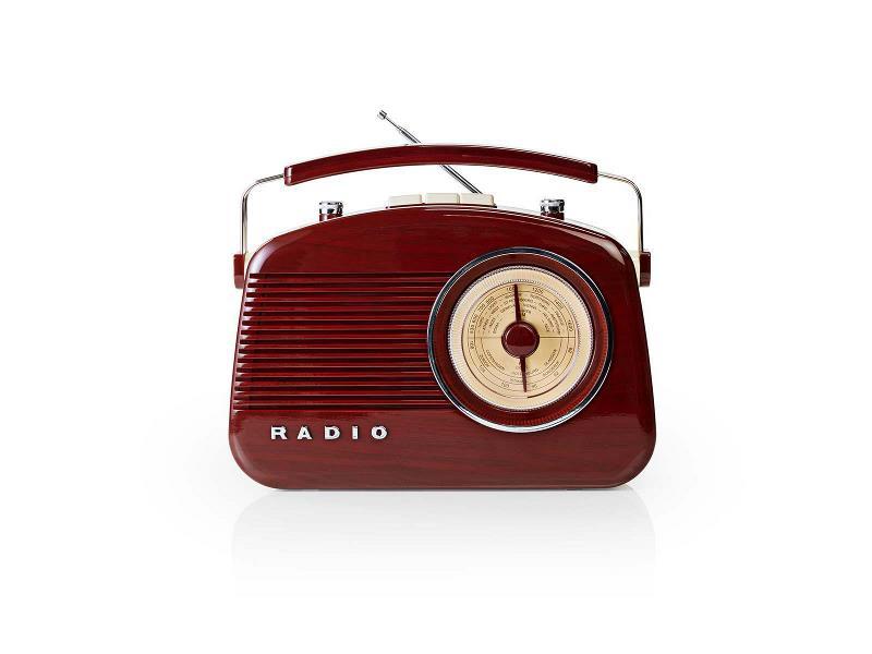 Nedis RDFM5000BN FM-radio | 4,5 W | Draaggreep | | Bruin