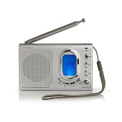 Nedis RDWR1000GY FM-radio   1,5W   Wereldontvanger   Alarmfunctie   Grijs