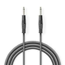 Nedis COTH23050GY30 Kabel voor Monoluidspreker | 6,35 mm male - 6,35 mm male | 3,0 m | Grijs