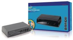 HQ HQSW-AV110 Handmatige 4-poorts audioschakelaar