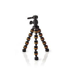 Nedis GPOD3200BK Ministatief | Max. 1 kg | 28,5 cm | Flexibel | Zwart/oranje