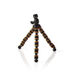 Nedis GPOD3210BK Ministatief | Max. 2,5 kg | 32,5 cm | Flexibel | Zwart/oranje
