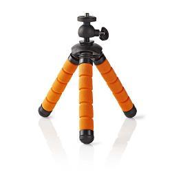 Nedis GPOD3000BK Ministatief | Max. 0,5 kg | 13 cm | Flexibel | Zwart/oranje
