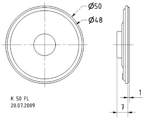 """Visaton 2949 Miniatuur luidspreker 5 cm (2"""") 16 Ohm"""
