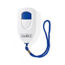Nedis ALRMP40WT Persoonlijk veiligheidsalarm | Laag gewicht | ≥ 85dB-alarm | Wit