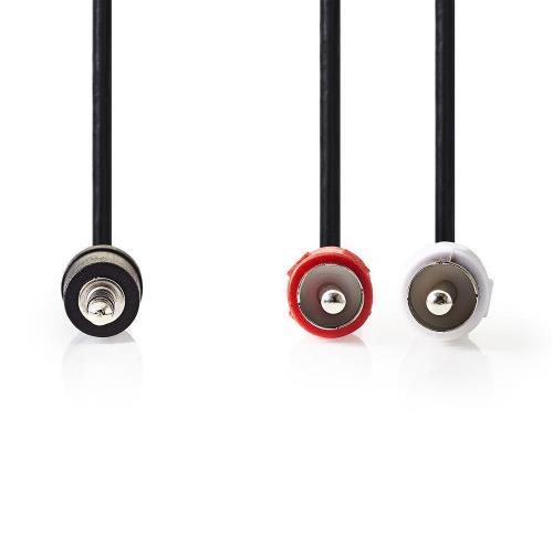 Nedis CAGT22200BK15 Stereo audiokabel | 3,5 mm male - 2x RCA male | 1,5 m | Zwart