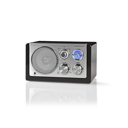 Nedis RDFM5100BK FM-radio | 9 W | Analoge tuning | Retro design | Zwart
