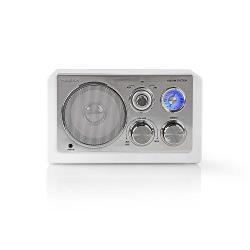 Nedis RDFM5100WT FM-radio | 9 W | Analoge tuning | Retro design | Wit