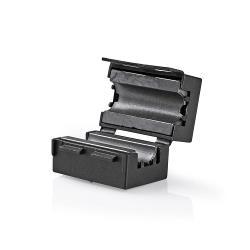 Nedis CVVC48914BK Video-ferrietfilter | 300 MHz | Voor kabeldiameters tot 7,5 mm | 25 stuks | Zwart
