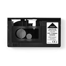 Nedis VCON100BK Adapter voor VHS-C cassette | VHS-C naar VHS | Plug-and-play | Zwart