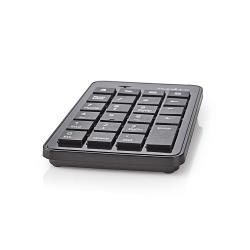 Nedis KBNM100BK Bedraad Numeriek Toetsenbord | USB | Zwart