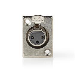 Nedis CAVC15911ME Bevestiging voor XLR-behuizing | XLR 3-pins female | 25 stuks | Metaal