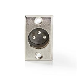 Nedis CAVC15910ME Bevestiging voor XLR-behuizing | XLR 3-pins male | 25 stuks | Metaal