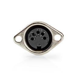 Nedis CAVC20901BK DIN-Connector   5-pins female   25 stuks   Zwart