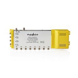 Nedis SSWI900YW Multiswitch | 5 naar 8 | F-connector | Terrestrisch: 47 - 862 MHz | Satelliet: 950 - 2150 MHz