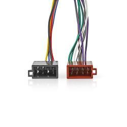 Nedis ISOCKW16PVA Kenwood 16-pins ISO-Kabel | Radioconnector - 2x autoconnector | 0,15 m | Veelkleurig