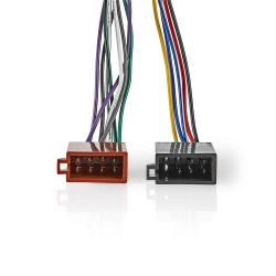Nedis ISOCSO16PVA Sony 16-Pins ISO-Kabel | Radioconnector - 2x autoconnector | 0,15 m | Veelkleurig