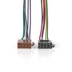Nedis ISOCSTANDVA Standaard ISO-Kabel | Radioconnector - 2x autoconnector | 0,15 m | Meerkleurig