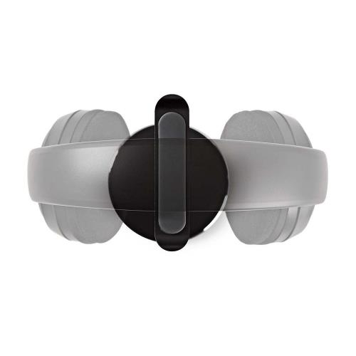 Nedis HPST200BK Standaard voor Koptelefoon   Aluminium Ontwerp   Antislipvoetjes   98 x 276 mm   Zwart
