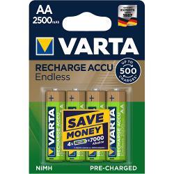 Varta 56686101404 Oplaadbare NiMH Batterij AA 1.2 V 2500 mAh 4-Blister