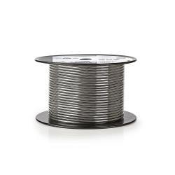 Nedis COTR15010GY100 Microfoonkabel   2x 0,23 mm²   100 m   Rol   Grijs