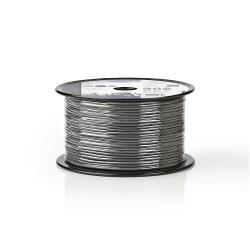 Nedis COTR15011GY100 Microfoonkabel   2x 0,125 mm²   100 m   Rol   Grijs