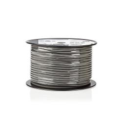 Nedis COTR15030GY100 Flexibele Luidsprekerkabel   2x 1,5 mm²   100 m   Rol   Grijs
