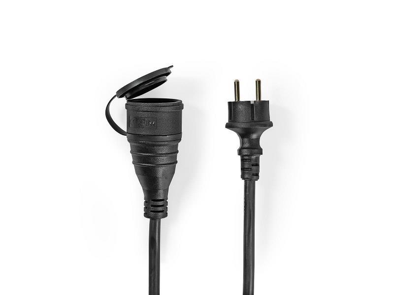 Nedis PECN110FBK Verlengkabel   10 m   H05VV-F 3G1.5   IP44   Zwart