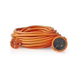 Nedis PEXC110FOG Verlengkabel | 10 m | H05VV-F 2X1.5 | Oranje