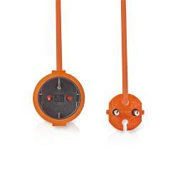 Nedis PEXC115FOG Verlengkabel | 15 m | H05VV-F 2X1.5 | Oranje